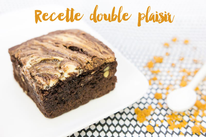 Recette double plaisir : chocolate & cheesecake brownie